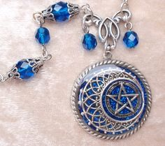 Blue Pentacle Necklace