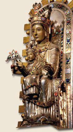 Vierge d'Ujué, Navarre, 12°-13° siècle, restauration du 20°.
