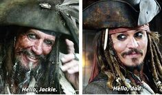 Captain Teagues and Captain Jack Sparrow