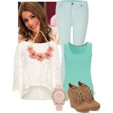 A fashion look from February 2014 featuring Pull&Bear tops, John Lewis tops and 7 For All Mankind jeans. Browse and shop related looks. Girly Outfits, New Outfits, Fall Outfits, Summer Outfits, Casual Outfits, Fashion Outfits, Teen Girl Fashion, Womens Fashion, Violetta Outfits