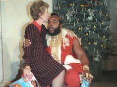 Christmas @ the White House: Nancy Reagan's kiss to Mr. T's forehead is so tender and sweet it almost makes me forgive her for trying to make it harder to find drugs in the 80s.