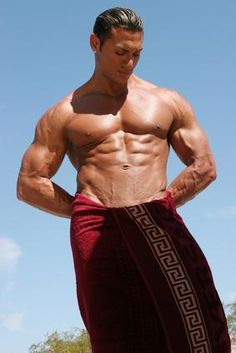 "Easy Exercises to Flatten the Stomach    (on a side note, this picture is titled ""Sexy muscular man in towel.""  Seriously?)"