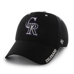 eaf99a774a1e8 Colorado Rockies Condenser MVP Black 47 Brand Adjustable Hat. Detroit GameColorado  RockiesSnapbackBaseball ...