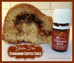 This now one of my favorite Coffee Cake recipes - so easy with Pamela's GF Baking Mix and a surprise ingredient - Cinnamon Bark essential oil!   TheConfidentMom.com