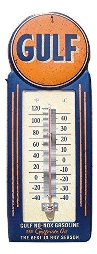 Gasoline and Oil Vintage Style Thermometer Sign Gas Service Station