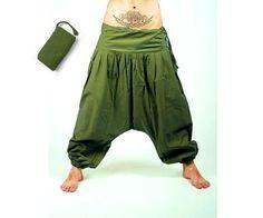 Harem Pants    Green Aladdin Pants  Harem Trousers  door manaKAmana
