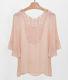 Blu Pepper Crinkle Top Buckle peach top (has cute tanks to layer it with)