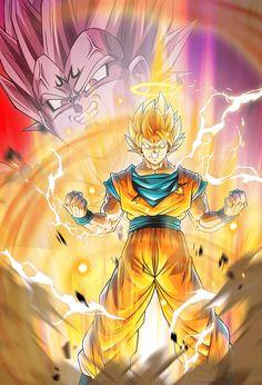Goku (Vs Majin Vegeta) card [Bucchigiri Match] by on DeviantArt Dragon Ball Z, Dragon Z, Cool Backgrounds Wallpapers, Goku Vs, Pokemon, Son Goku, Cartoon Art, Anime Art, Goku Super
