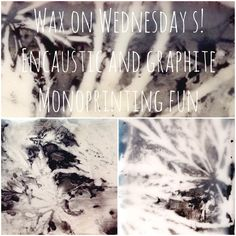 Wax on Wednesdays! Encaustic and Graphite Monoprinting