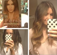 DIY Balayage, Ombre Haire for Brunette Ombre Hair At Home, Diy Ombre Hair, Balayage Hair Brunette Caramel, Balayage Ombre, Balayage Hair Tutorial, High Hair, Curly Hair Tips, Fancy Hairstyles, Light Brown Hair