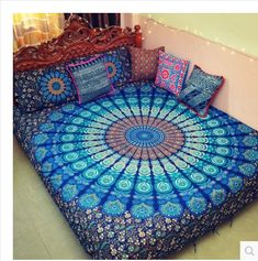"Mandala Print Blanket @theBohoFairy Blue Mandala Tapestry ""Each person's life is like a mandala – a vast, limitless circle. We stand in the center of our own circle, and everything we see, hear and think forms the mandala of our life.""    https://bohofairy.com/shop/mandala-print-blanket/ #BohoFairy #bohemian #boho #bohochic #BedCover, #Bedding, #BohoDecor, #BohoHome, #Decor, #Decoration, #Decorative, #Energy, #Home, #HomeDecor, #Mandala, #MandalaFlower, #M"