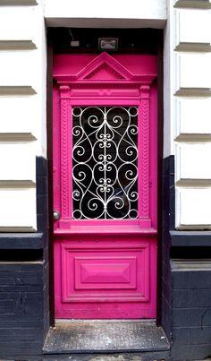 Cool Doors, Unique Doors, Arched Windows, Windows And Doors, Architecture Mapping, Orange Door, Door Knockers, Architectural Elements, Doorway