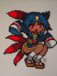 Moemon Sneasel/ Perler Beads by Cimenord on DeviantArt