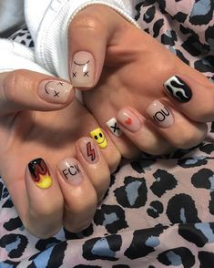 Edgy Nails, Aycrlic Nails, Grunge Nails, Funky Nails, Stylish Nails, Swag Nails, Hair And Nails, Best Acrylic Nails, Simple Acrylic Nails