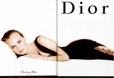 In 1996, Diane Kruger posed for Christian Dior before beginning her acting career