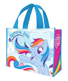 Another great find on #zulily! Rainbow Dash Shopping Tote - Set of Two by My Little Pony #zulilyfinds