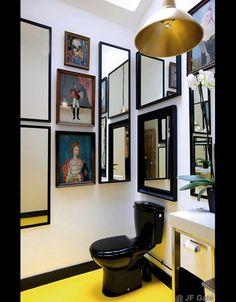 Idée à retenir : pour les toilettes, couleurs pep's, miroirs...
