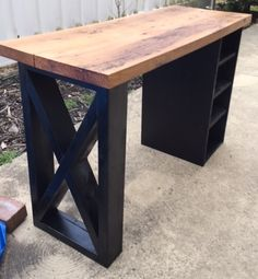 Manicure Table w/reclaimed wood
