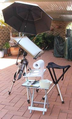Watercolor Easel - What a great set up for plein air painting.