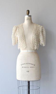 Elegie lace bolero 1930s lace shrug vintage 30s by DearGolden