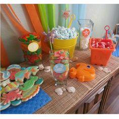 Beach themed candy bar