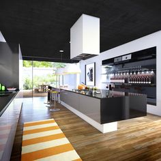 architectural visualisation of a detached house in morelia, mexico dream 3d Interior Design, H Design, Interior Design Inspiration, House Design, 3d Architectural Rendering, 3d Architectural Visualization, 3d Visualization, Lorraine, Kitchen Interior