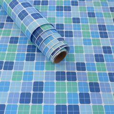 Tecido adesivo - Pastilha azul