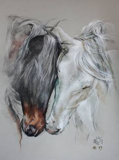 Discover thousands of images about Daniela Nikolova-Sidiropoulou Horse art Indio XLII & Entendido XXXIV - Caballos Mayoral Pretty Horses, Horse Love, Beautiful Horses, Horse Drawings, Animal Drawings, Art Drawings, Abstract Drawings, Drawing Art, Abstract Art