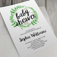 Hey, I found this really awesome Etsy listing at https://www.etsy.com/listing/400421065/printable-baby-shower-invitation-green