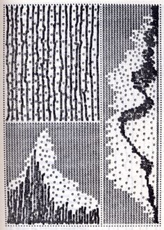 """A piece by Karel Adamus for the concrete poetry journal """"typewriter"""" from 1975"""