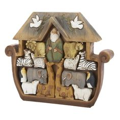 un finished Noah's ark puzzle - Yahoo Search Results Image Search Results Arche Noah Kindergarten, Noahs Ark Nursery, Wood Crafts, Diy And Crafts, Wood Projects, Projects To Try, Noahs Arc, Scroll Saw Patterns, Paperclay