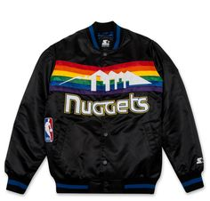Starter black label satin jacket Denver Nuggets (black)
