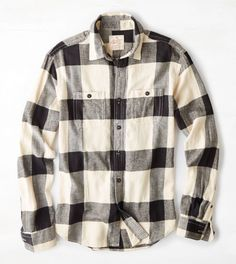 White  AEO Heritage Flannel