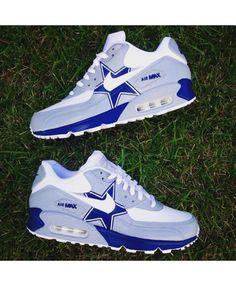 Nike Air Max 90 Custom Dallas Cowboys White Grey Blue Shoes Air Max 90 Grey, Dallas Cowboys Shoes, Dallas Cowboys Women, Cowboys Football, Football Memes, Football Season, Nike Free Shoes, Nike Shoes, Sneakers Nike