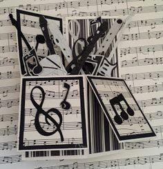 Use Sheet Music Circles Layered On Scallop Circles Top