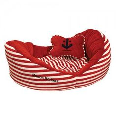 Red Dog Bed #anchor #nautical
