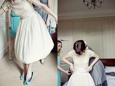 great dress and pretty blue shoes