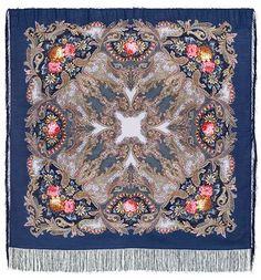 Blue boho Russian shawl for woman size Pavlovo Posad warm wool wrap scarf for mom birthday gift Personalized Gifts For Mom, Russian Blue, Mom Birthday Gift, Wool Scarf, Pink Grey, Navy Blue, Vintage Patterns, Womens Scarves, Pavlova