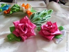 Eu Amo Artesanato: Rosa de fita