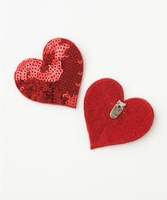 *Ban.do's red sequin hearts - as shoe clips, hair clips, or as a pin.  Love the love. $25.00