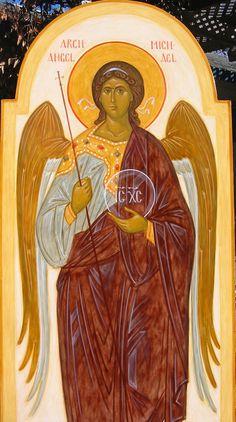 Archangel Michael by Ann Margitich Catholic Art, Religious Art, Archangel Michael, Art Icon, Orthodox Icons, St Michael, Christianity, Painting, Amen