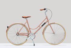 Retro Modern Bici by Veloretti #bici #pink #retro #bicycle #designhunger #veloretti #nude #design #blog