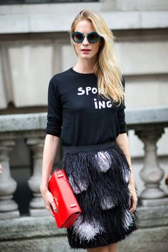 67 new street style snaps in straight from London Fashion Week. See all the chic It-Brits here: