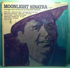 Frank Sinatra Moonlight Sinatra Reprise MONO $10.00 USD In this 1966 #Moon themed #album, #Sinatra and his magical voice take you there. #vinyl #vintage #records #Jazz #Pop #Reprise Records F 1018 #LP