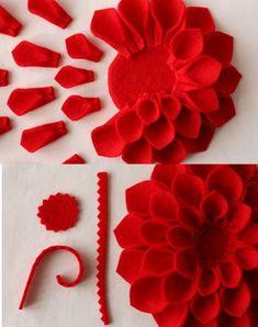 broches flores fieltro detalle
