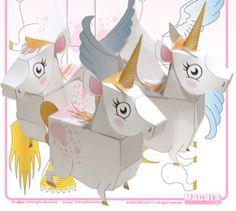 unicorn crafts | Mythology Papercraft - Unicorn & Pegasus ~ Paperkraft.net - Free ...
