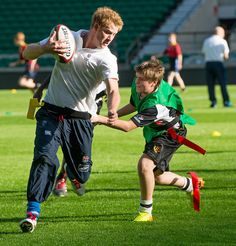 : Prince Harry played with both a boys' team