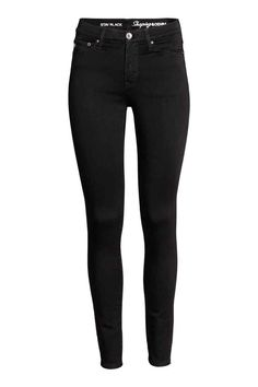 Shaping Skinny Regular Jeans - Black/No fade black - Ladies | H&M GB