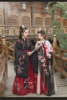 Hanfu, Traditional Fashion, Traditional Dresses, Asian Fashion, Fashion Art, Chinese Fashion, Mode Kimono, Fashion Catalogue, Chinese Clothing