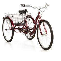 Schwinn Meridian Adult Trike, Dark Cherry $259 - MY DREAM BIKE!!!  WHY - 1. It Reminds me of my grandmothers bike in which i rode in the basket  2. I could go to the store without needing a ride :-D